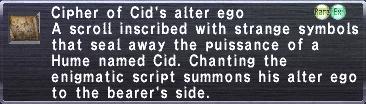 Cipher: Cid