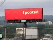 I Pooted The Billboard