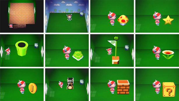 Animal Crossing X Mario Crossover, Super Mario Furniture Animal Crossing