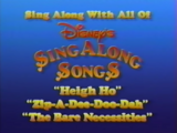 Disney's Sing-Along Songs: The Bare Necessities/Home media