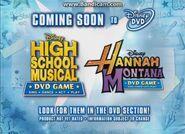 High School Musical and Hannah Montana DVD Games