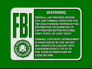 Disney Green FBI Warning (1991)
