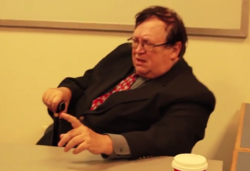 Dr. Sack in his office.