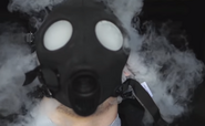 Gas coming out of the mask