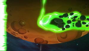 Mooncake obliterates some asteroids