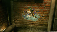 Stamp graffiti in the sewers from FFVII Remake