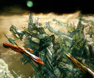 Final Fantasy XIII Early Concept Art - Air City