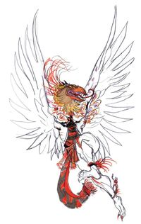 Garuda, a prominent flying boss.