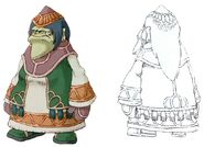Dwarf Female FFIX Art 1