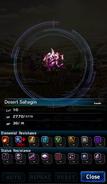 FFBE Desert Sahagin Analyze