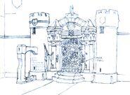 Alexandria Castle East Gate FFIX Art
