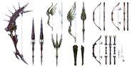 Archer Weapons FFXIV Art