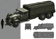 Shinra Military Truck artwork for FFVII Remake