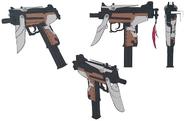 Jessies gun artwork for FFVII Remake