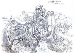 Midgar FFVII Sketch.jpg