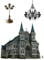 Sector 5 Church artwork for FFVII Remake