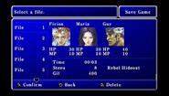 FFII PSP Save Menu