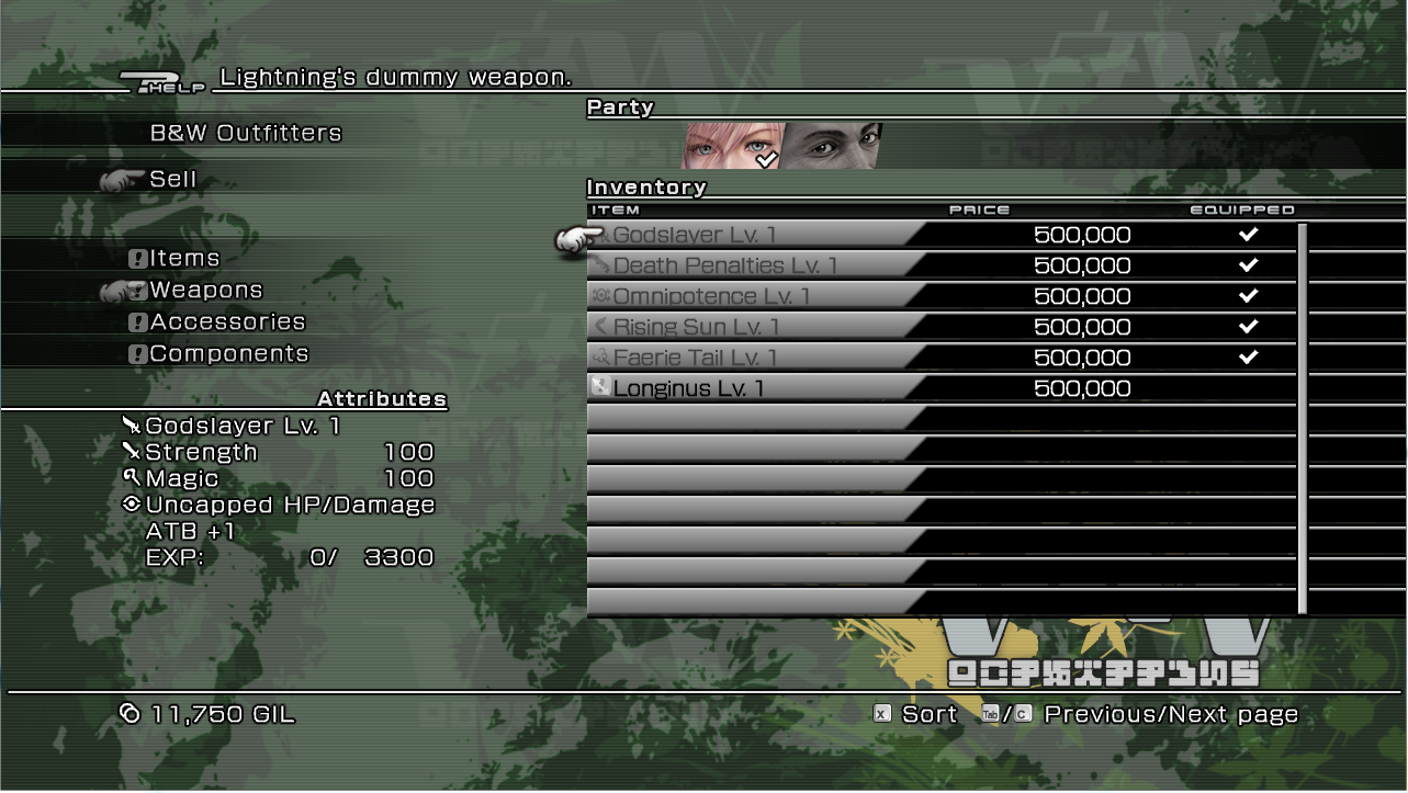 FFXIII-Dummied-Weapons.png