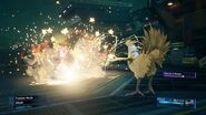Chocobo and Moogle summoned to battle from FFVII Remake