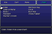 FFVI GBA Items Menu 2