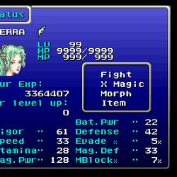 Final Fantasy VI stats