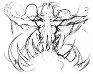 FFIII Cloud of Darkness Amano Sketch 2