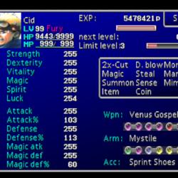 Final Fantasy VII stats