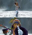 Rikku White Mage Victory Pose