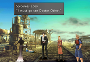 Edea explains she wants to see Odine from FFVIII Remastered