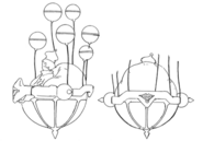Tyrant's hovercraft side and rear concept for Final Fantasy Unlimited