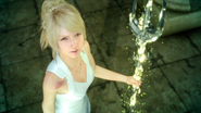Lunafreya with the Trident of the Oracle from FFXV