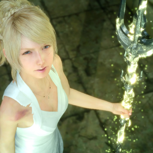 Lunafreya with the Trident of the Oracle from FFXV.png