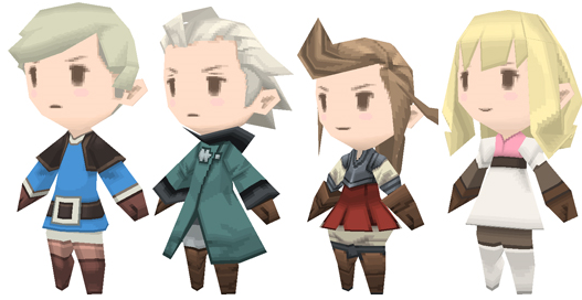 Final Fantasy: The 4 Heroes of Light crowns