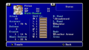 FFII PSP Status Menu 1
