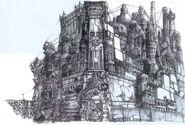 Midgar FFVII Early Concept Art