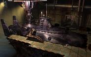 Underwater reactor submarine