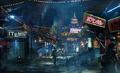 Wall Market artwork for Final Fantasy VII Remake