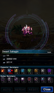 FFBE Desert Sahagin Analyze 2
