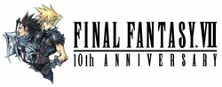 Logo do 10° Aniversário do Final Fantasy VII.
