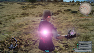 Ignis uses Power Ex in FFXV