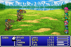 Final Fantasy V statuses