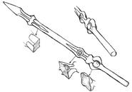 Maken untransformed sketch concept for Final Fantasy Unlimited