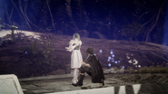 Noctis heals Sarah in Close Encounter witg the Terra Kind in FFXV