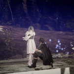 Noctis heals Sarah in Close Encounter witg the Terra Kind in FFXV.png