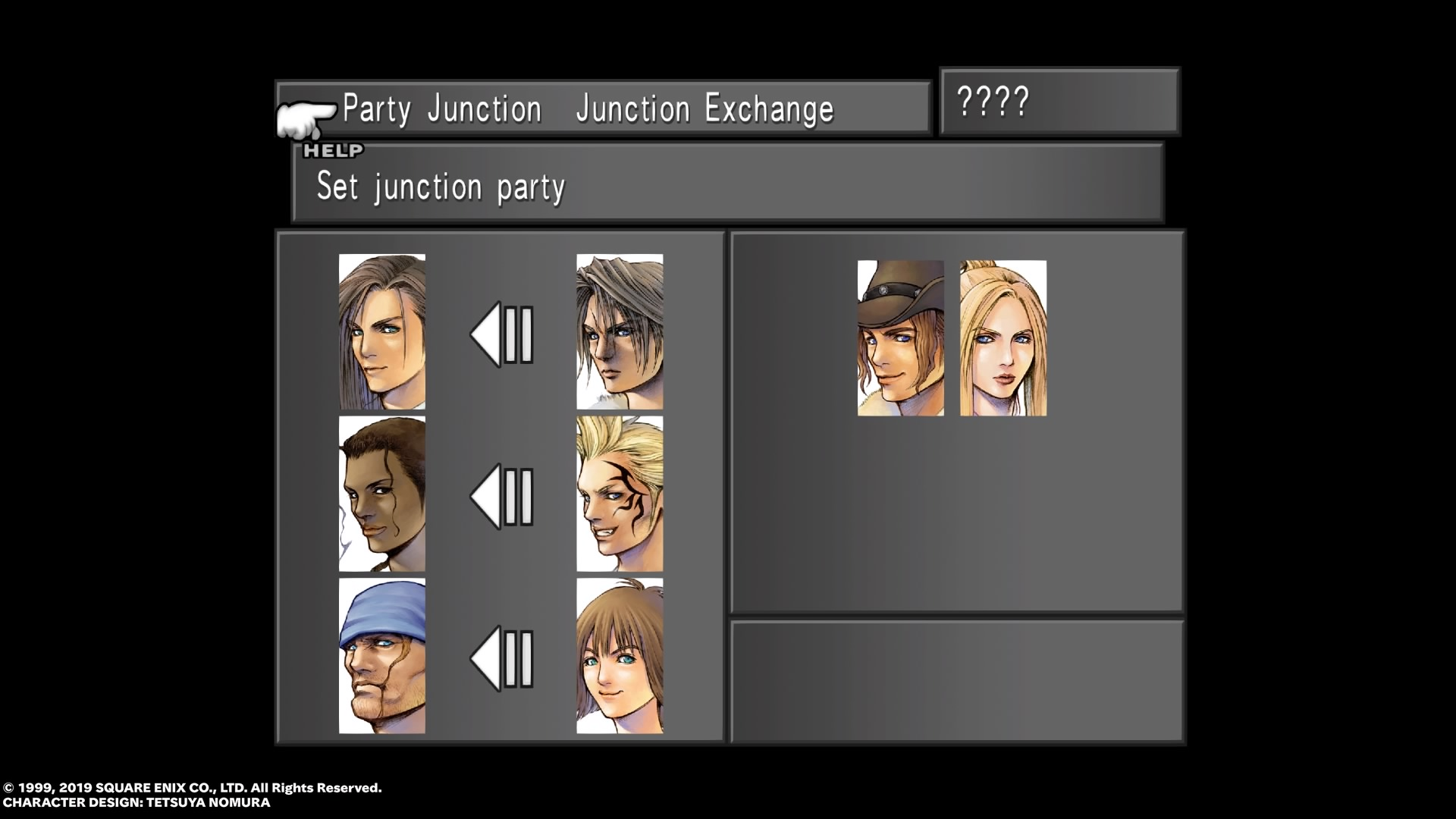Party junction selection for a Laguna dream from FFVIII Remastered.jpg