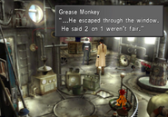 Galbadian Soldier escaped through the window from FFVIII R