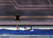 The party boards the Lunatic Pandora from FFVIII Remastered