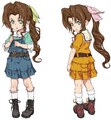 Young Aerith from Final Fantasy VII Remake artwork