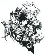 FFVII 10th Anniversary BW Artwork