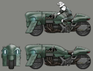 Shinra motorbike for FFVII Remake